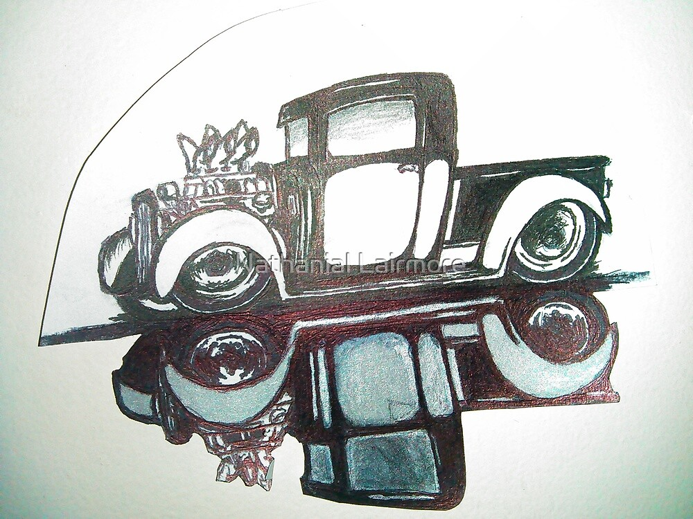 sick rat rod art  by Nathanial Lairmore