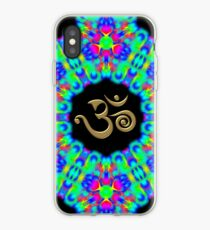 SACRED OM, Psychedelic Pattern, Ornament, Mandala, Design, Art, Flower, Fantasy, Magic, Geometry, Rainbow iPhone Case