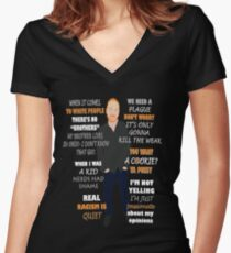 Bill Burr Quote Women's Fitted V-Neck T-Shirt