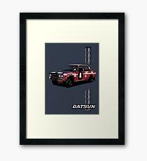 Datsun Bluebird 1600SSS 1970  P510 - Stripe Framed Print