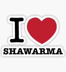 I HEART Shawarma Sticker
