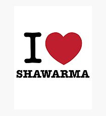 I HEART Shawarma Photographic Print