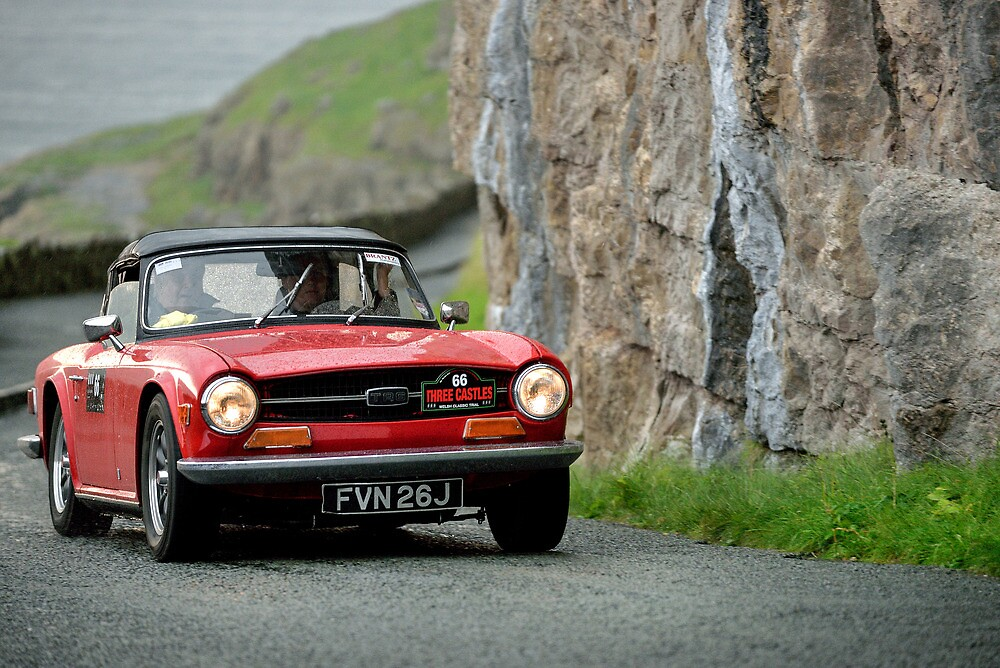 The Three Castles Welsh Trial 2014 - triumph TR 6 by Three-Castles