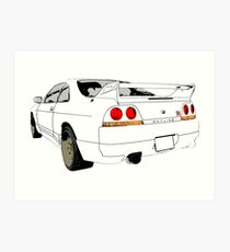 Nissan Skyline R33 GT-R (semi back) Kunstdruck