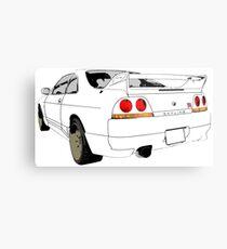 Nissan Skyline R33 GT-R (semi back) Metal Print