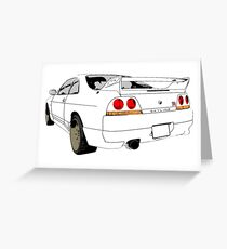 Nissan Skyline R33 GT-R (semi back) Greeting Card