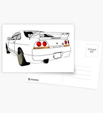 Nissan Skyline R33 GT-R (semi back) Postcards