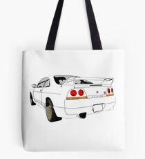 Nissan Skyline R33 GT-R (semi back) Tote Bag