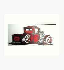 rat rod pick up truck Art Print