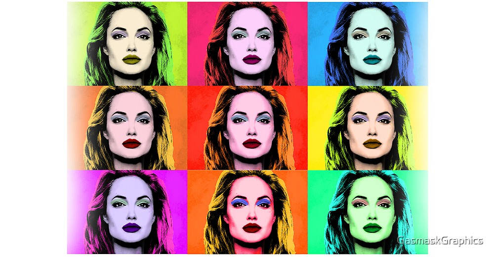 Angelina Jolie Many Faces by GasmaskGraphics