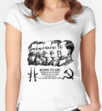 COMMIE DADS WORLD IS A FUCK Women's Fitted Scoop T-Shirt