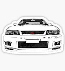 Nissan Skyline R33 GT-R (front) Sticker