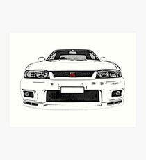 Nissan Skyline R33 GT-R (front) Kunstdruck