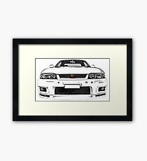 Nissan Skyline R33 GT-R (front) Framed Print