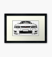 Nissan Skyline R33 GT-R (front) Gerahmtes Wandbild