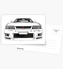 Nissan Skyline R33 GT-R (front) Postcards
