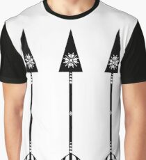 Arrows - White Graphic T-Shirt