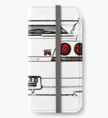 Nissan Skyline R33 GT-R (back) iPhone Wallet/Case/Skin