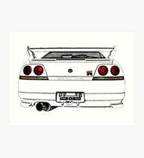 Nissan Skyline R33 GT-R (back) Kunstdruck