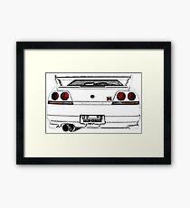Nissan Skyline R33 GT-R (back) Gerahmtes Wandbild