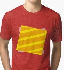 Yellow and pink abstract Tri-blend T-Shirt