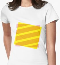 Yellow and pink abstract Womens Fitted T-Shirt
