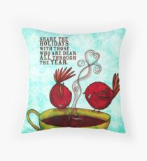 What my #Coffee says to me -  December 22, 2012 Pillow Throw Pillow