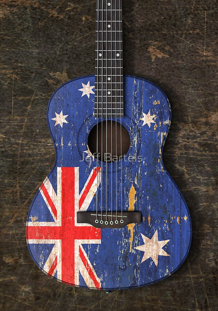 Aged and Worn Australian Acoustic Guitar by jeff bartels