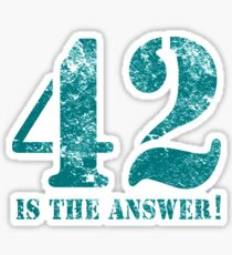42 is the answer to everything Sticker