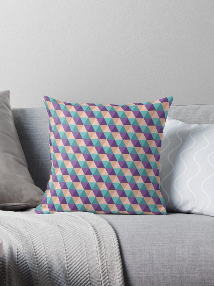 geo triangle 3 throw pillows by beckynolan redbubble