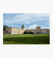 Wilanow Palace, Warsaw, Poland. Photographic Print