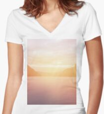 landscape 01 Women's Fitted V-Neck T-Shirt