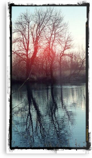Waterscape Red Dusk by karaskye