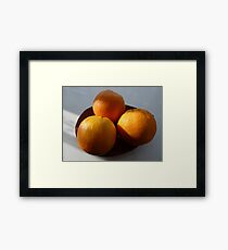 Orange Fruit Bowl Framed Print