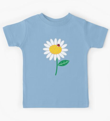 Whimsical Summer White Daisies & Red Ladybugs Kids Clothes