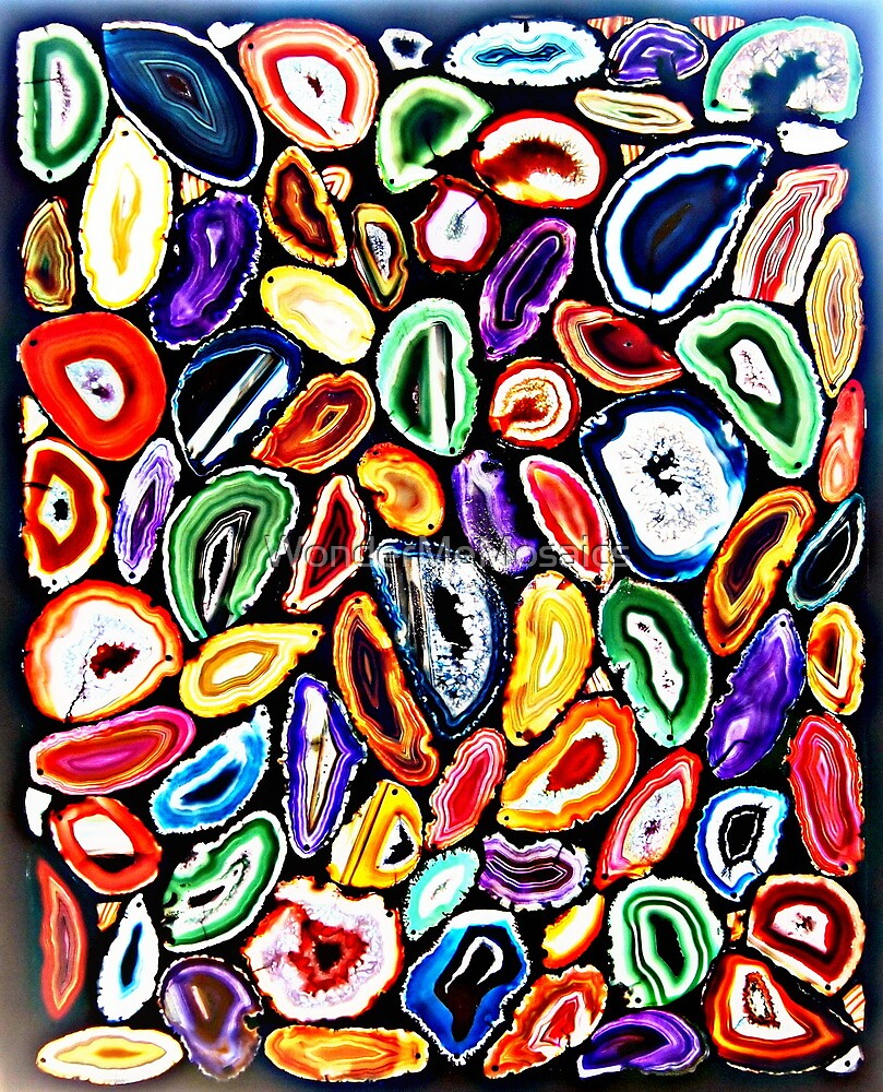Artistic Garden of Agates, Mosaic Art by WonderMeMosaics