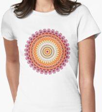 Orange Spice Mandala Women's Fitted T-Shirt