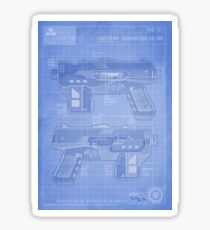 Lawgiver MKII Blueprint Sticker