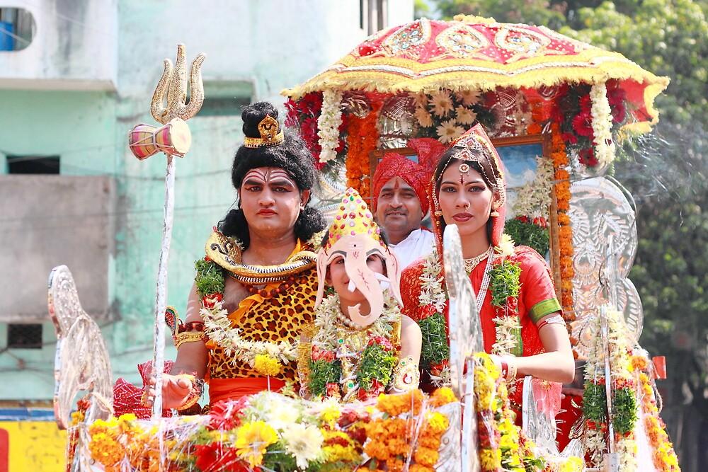 Hindu Wedding Anniversary by Andrew  Makowiecki