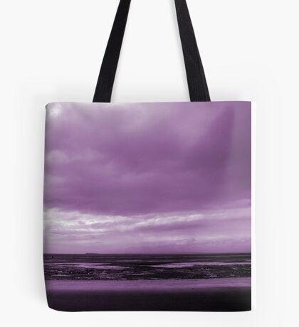 Rain Clouds At Sand Bay Tote Bag