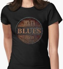 Rusty delta blues Women's Fitted T-Shirt