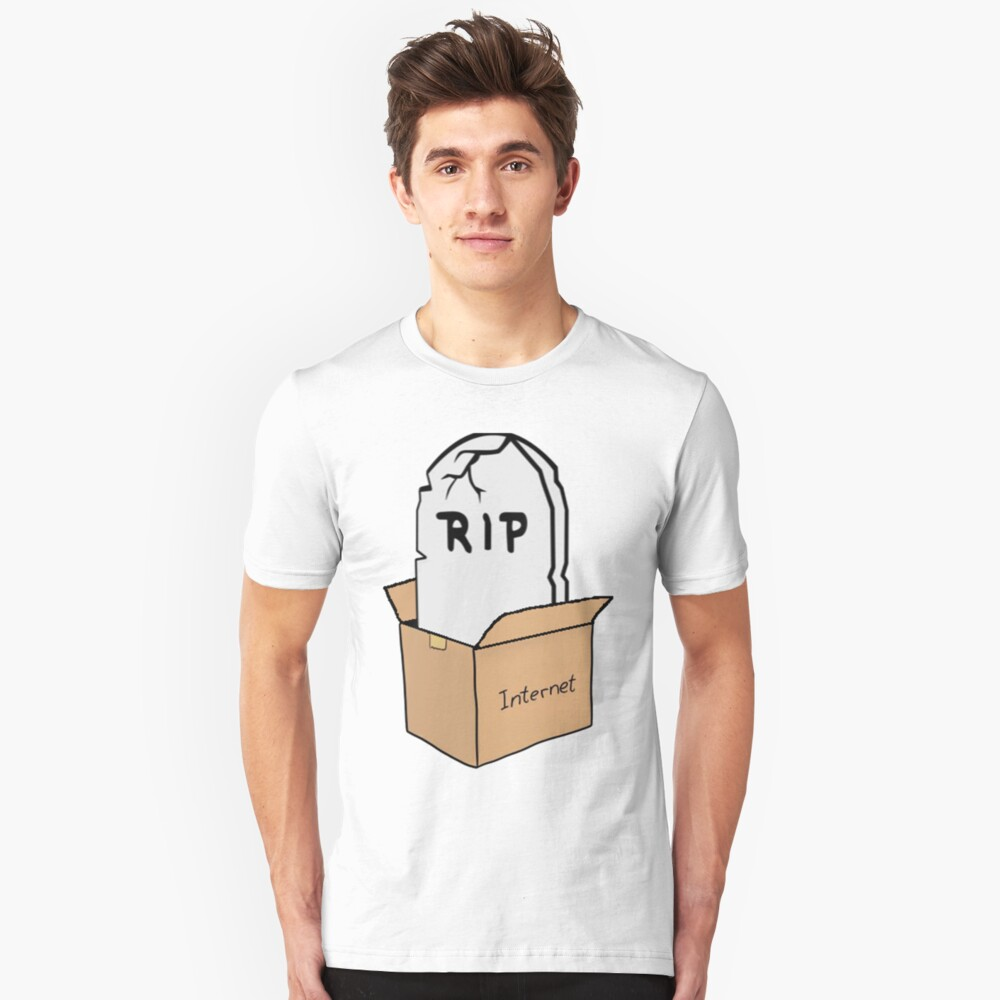R.I.P internet Box [NO TEXT] Unisex T-Shirt Front