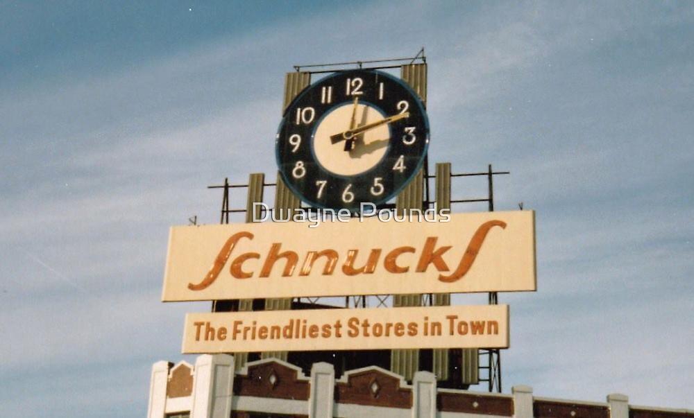 Former Schnucks Dairy Building clock  by Dwayne Pounds
