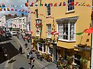 Looking Down at Life on the Street at Tenby, Wales by trish725