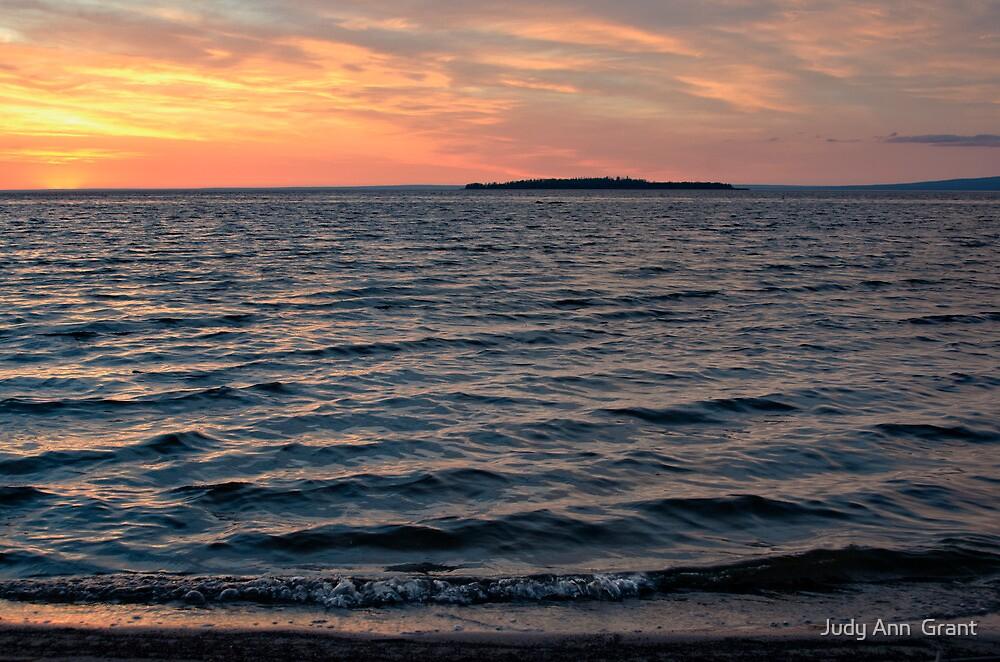 Sunset Slave Lake  by Judy Ann  Grant