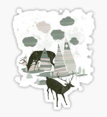 magic mountains Sticker