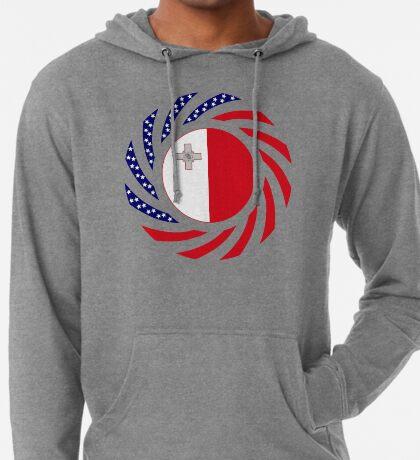 Maltese American Multinational Patriot Flag Series Lightweight Hoodie