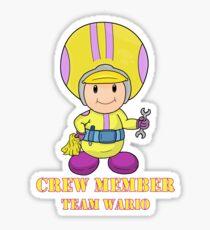Team Wario Crewmember Sticker