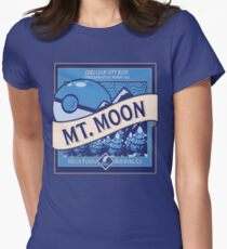 Mt. Moon Pokemon Beer Label Women's Fitted T-Shirt