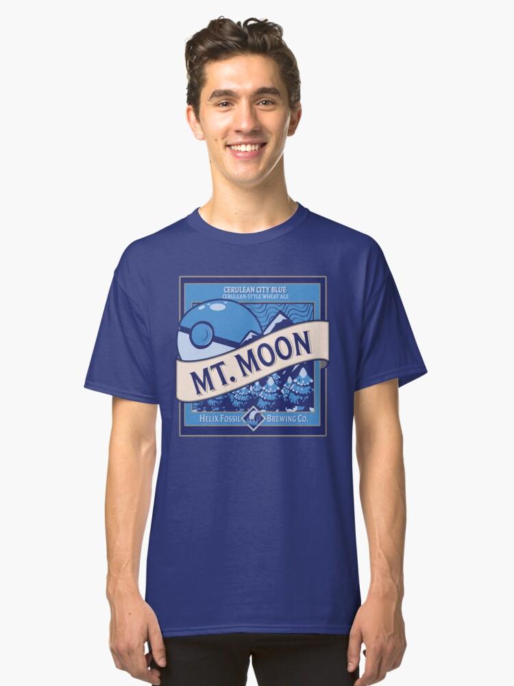 Mt. Moon Pokemon Beer Label Classic T-Shirt Front